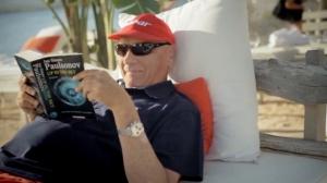 Niki Lauda hat nichts zu verschenken. Und er liest fiktive Bücher. Foto: Lowe GGK