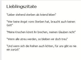 """Die """"Lieblingszitate"""" von  Stefan Gotschacher, Pressesprecher von FPÖ-Wien-Klubobmann Johann Gudenus, auf Facebook"""