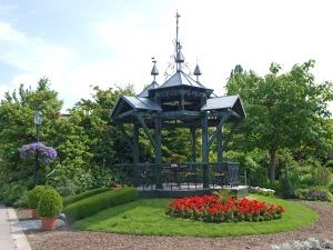 Pavillon im Schulgarten Kagran (Foto: Wiener Stadtgärten)