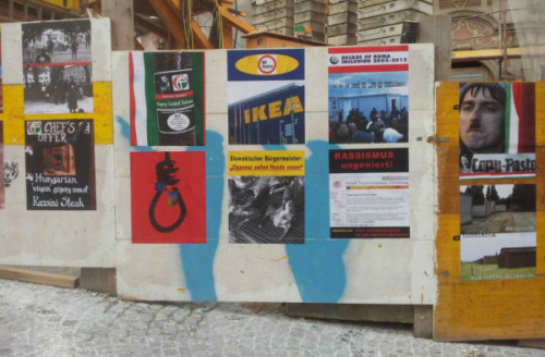 Diese Plakate regen Ungarns Nationalisten auf