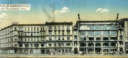 Alfred Abraham Gerngross gründete im Jahr 1879 sein Geschäft (heute Mariahilfer Straße 42-48). Es sollte wegweisend für eine neue Art des Konsums in Wien werden