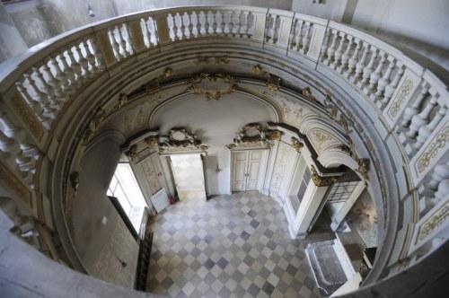 Nochmals die Kapelle, betrachtet vom ersten Stock (Foto: Corn)