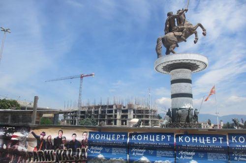 Reiterstatue Alexanders des Großen in Skopje (Gepp)