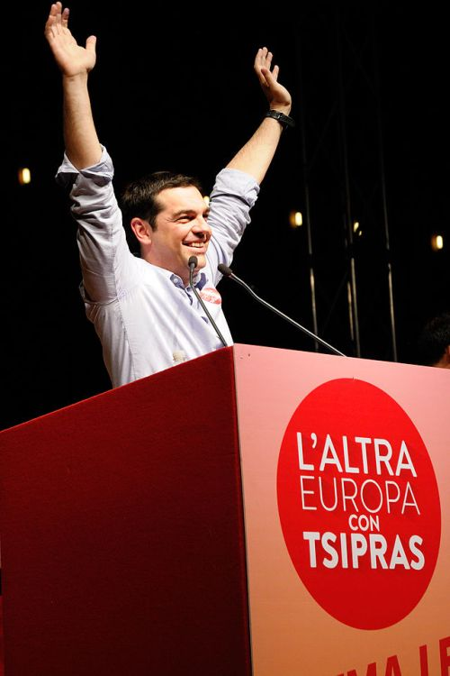 ... und Syriza-Chef Alexis Tsipras, seit Anfang 2015 Premier Griechenlands (Wikipedia)