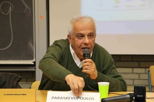 Theodoros Paraskevopoulos berät Griechenlands Syriza-Premier Alexis Tsipras