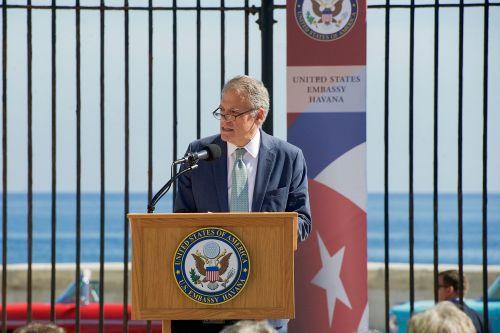Jeffrey DeLaurentis bei seiner Ansprache zur Wiedereröffnung der US-Botschaft in Havanna (Foto: Wikipedia)