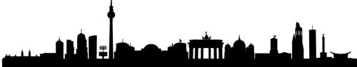 detailed vector illustration of the german cities Berlin, Bremen, Cologne, Dresden, Frankfurt am Main and Munich