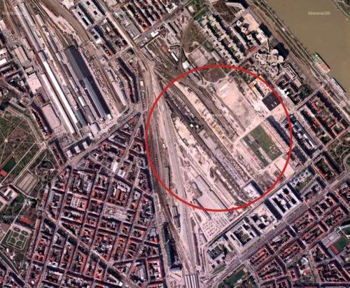 Eines der größten Stadtentwicklungsgebiete Wiens: das Nordbahnhofgelände im zweiten Bezirk