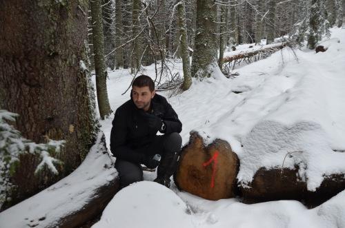 Gabriel Paun im Wald von Câmpuşel (Gepp)